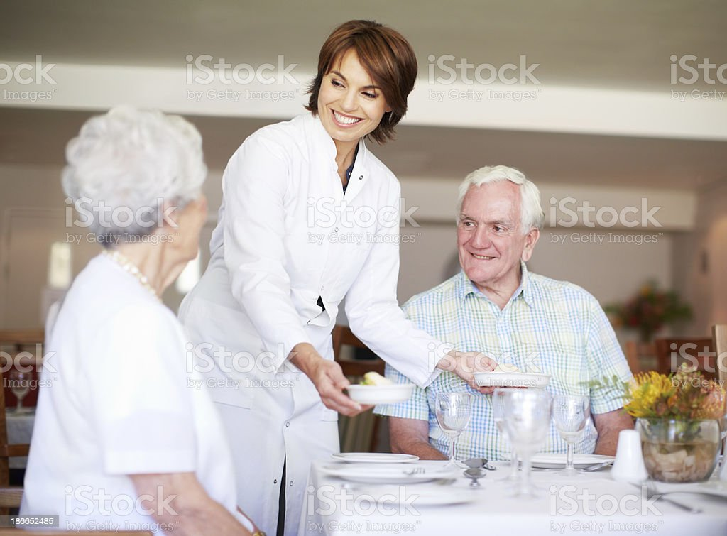 She's an excellent maitre d'! royalty-free stock photo