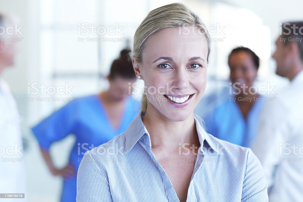She's an experienced professional! stock photo