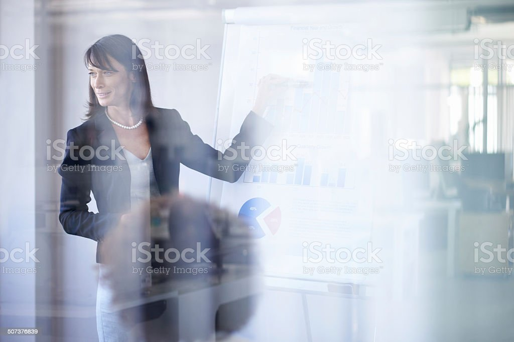 She's an expert in corporate strategy stock photo