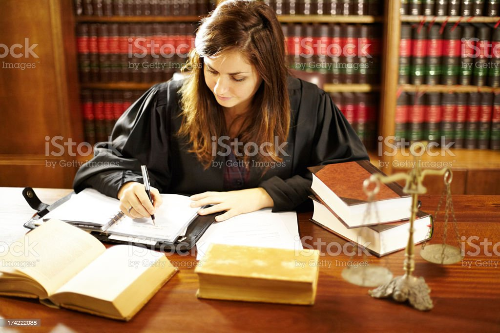 She's an expert in the legal world stock photo