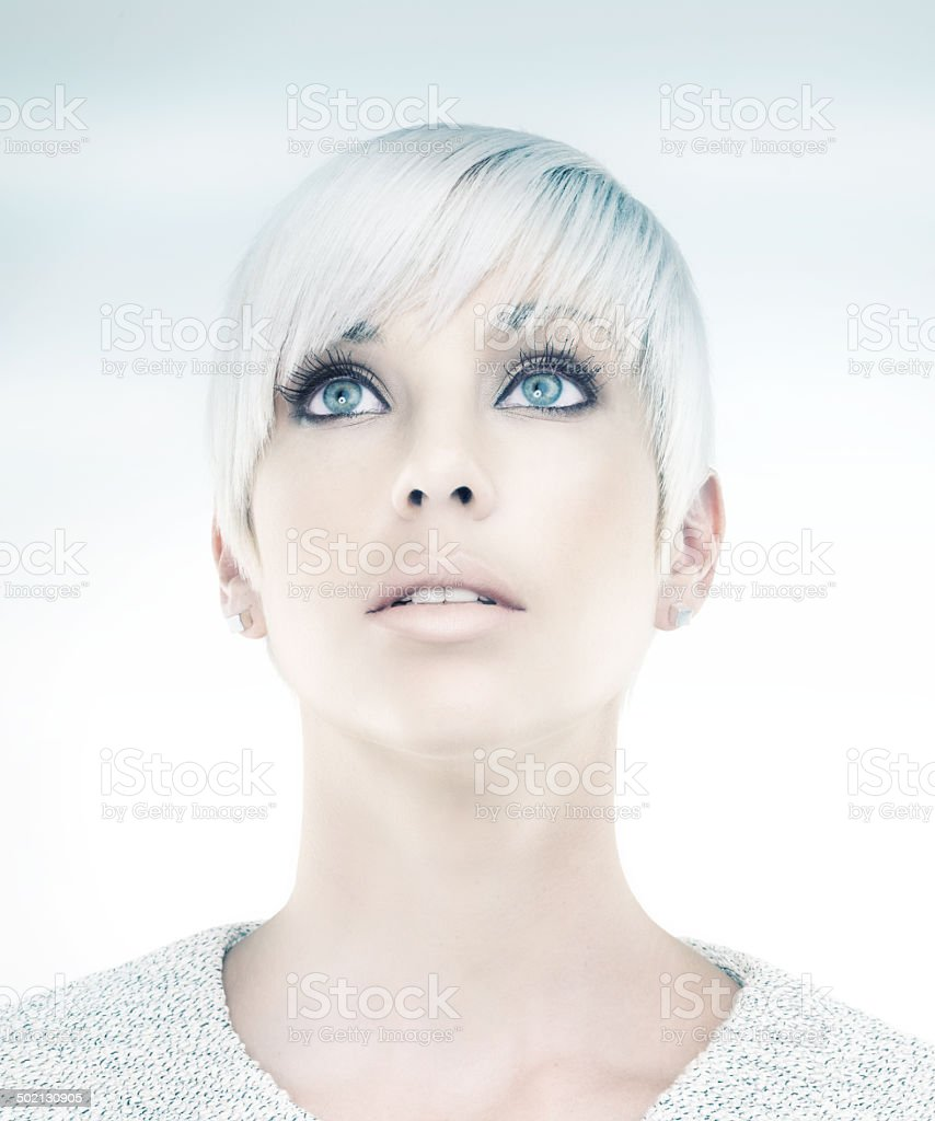 She's an image of a beautiful future royalty-free stock photo