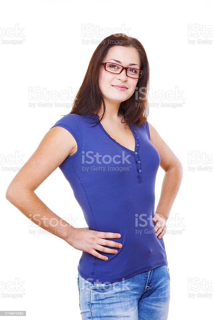 She's an intellectual royalty-free stock photo
