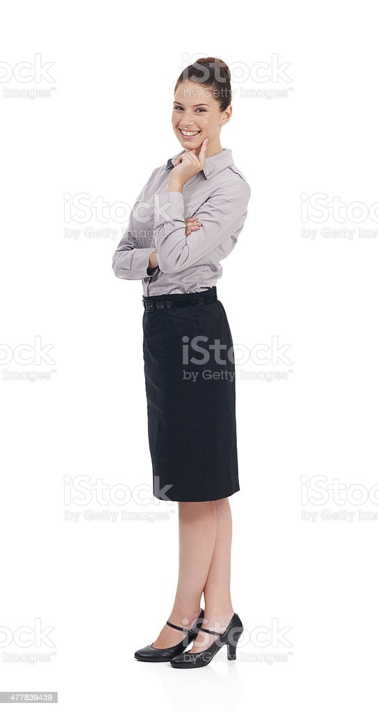 She's at the top of her corporate game royalty-free stock photo