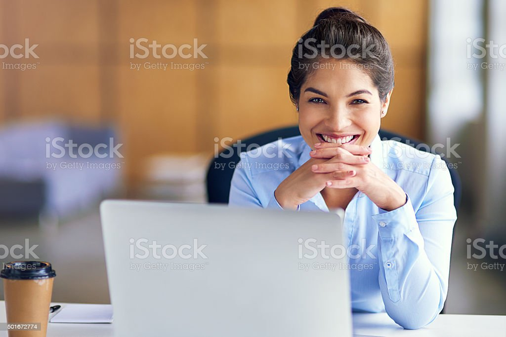 She's at the top of her game stock photo