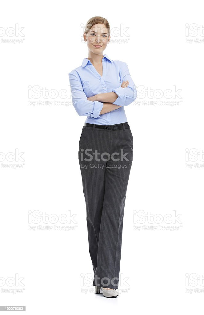 She's a confident young businesswoman stock photo