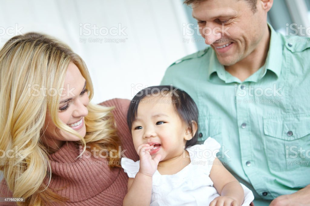 She's captured their hearts stock photo