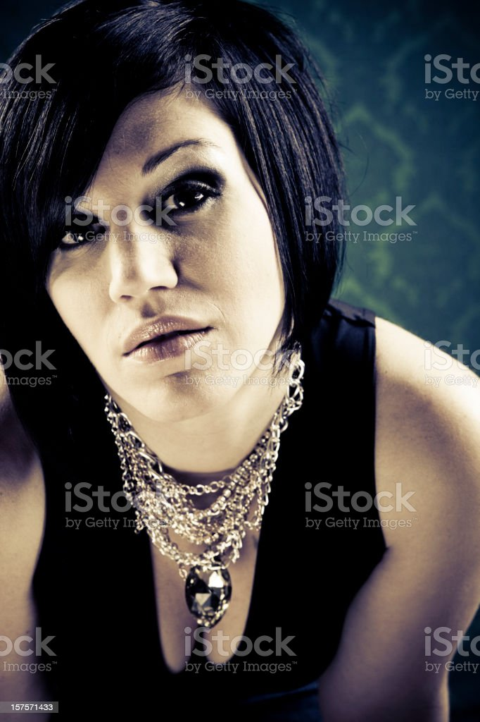 She's chic. royalty-free stock photo