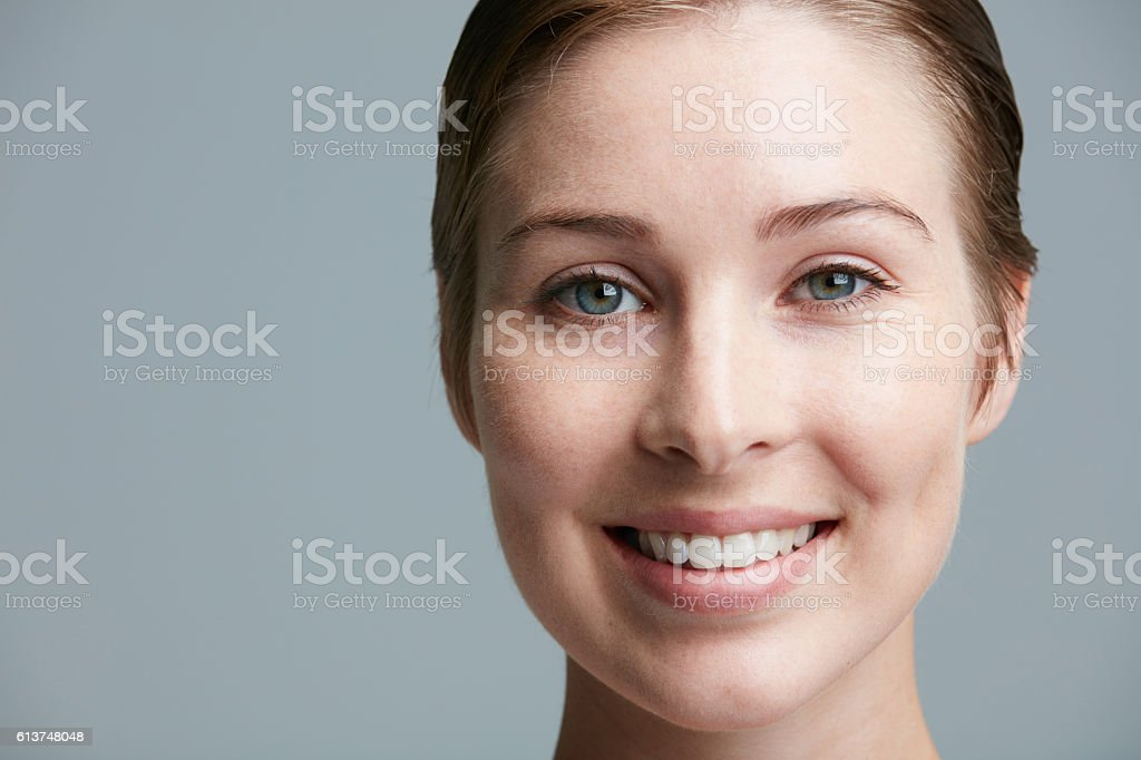 She's clearly beautiful stock photo