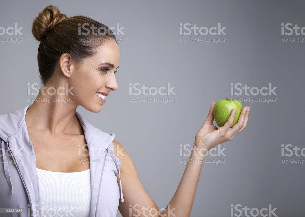 She's dedicated to healthy eating royalty-free stock photo
