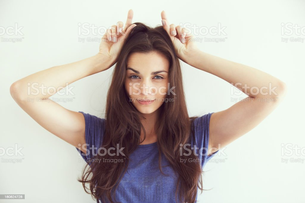 She's devilish stock photo