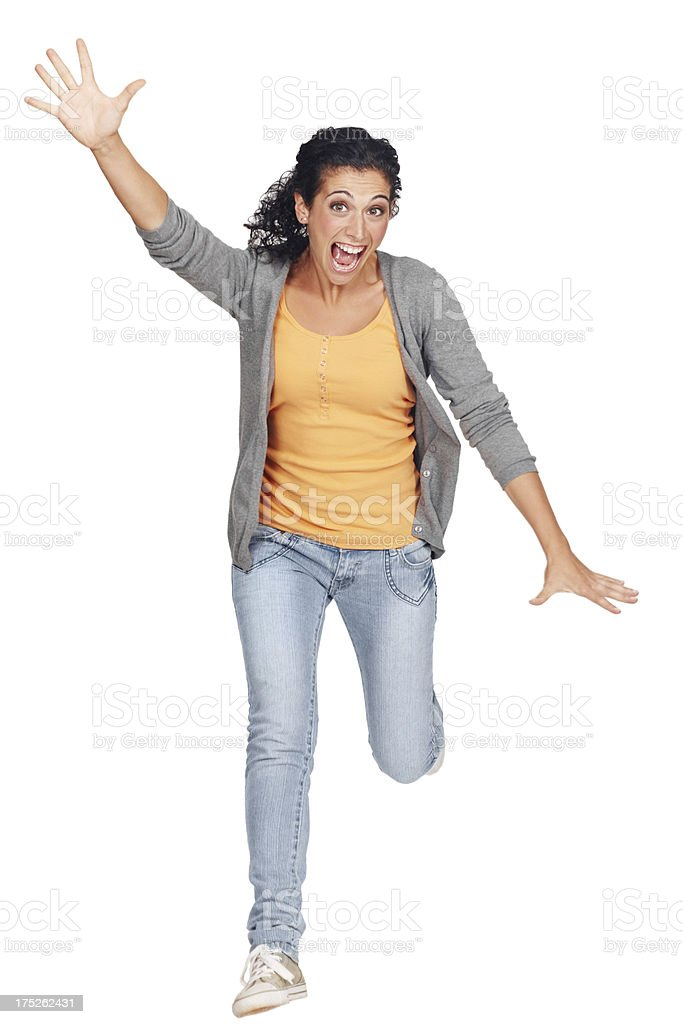 She's ecstatic royalty-free stock photo