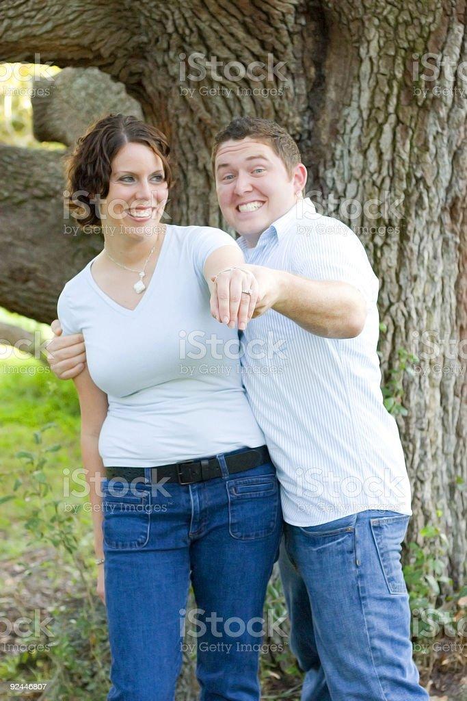 She's Engaged! royalty-free stock photo