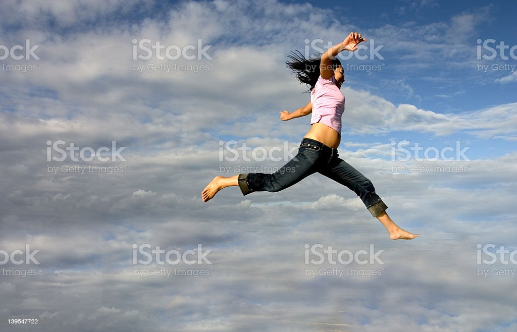 She's Flying! royalty-free stock photo