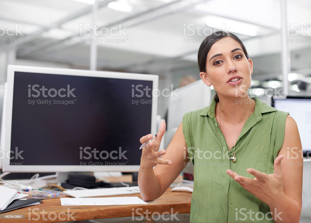 She's full of bright ideas stock photo