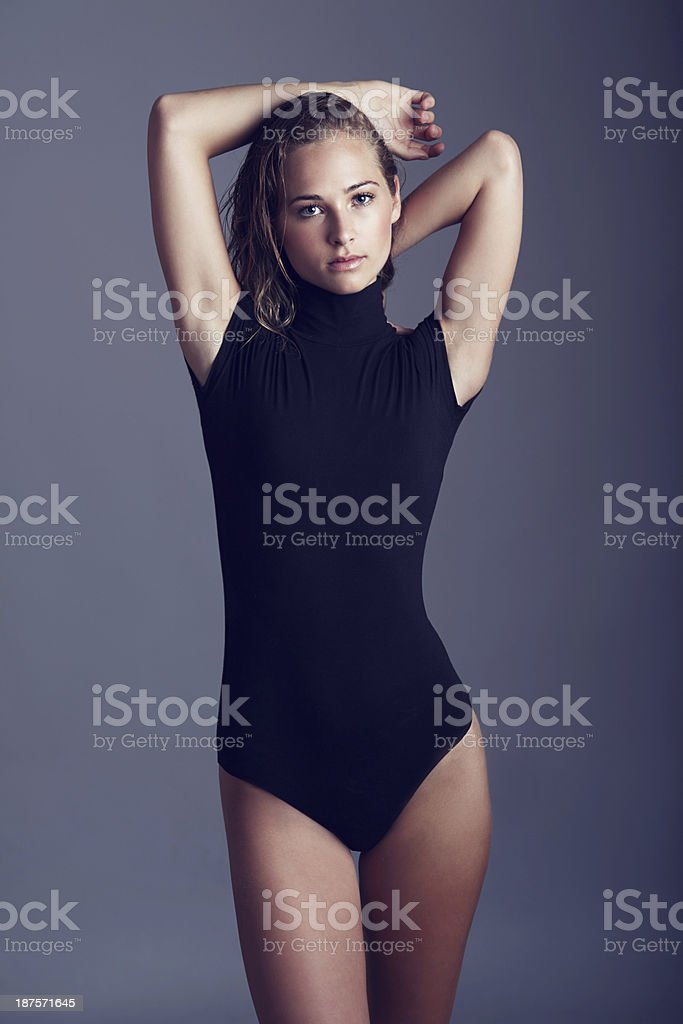 She's full of confidence and charisma stock photo