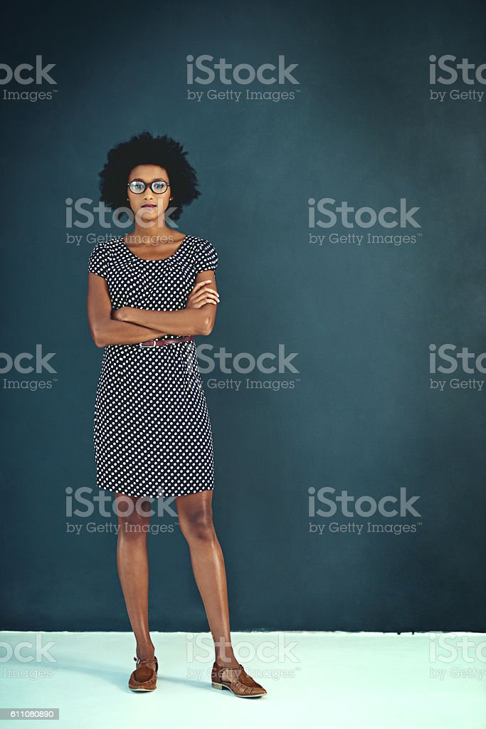 She's full of confidence stock photo