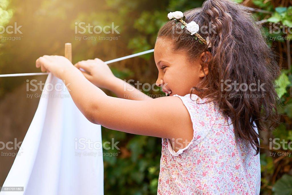 She's full of laughter stock photo