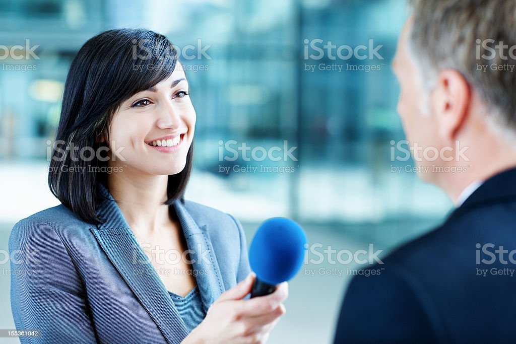 She's full of questions stock photo