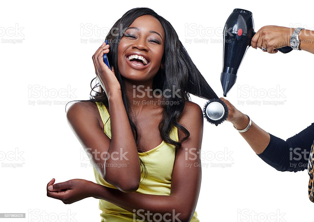 She's going to look fabulous after this stock photo