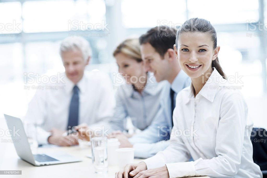 She's going to make a success of her career royalty-free stock photo