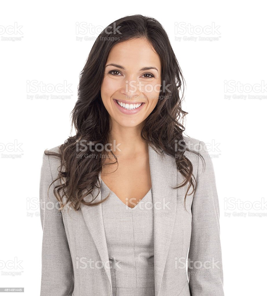 She's going to wow them with her business ideas stock photo