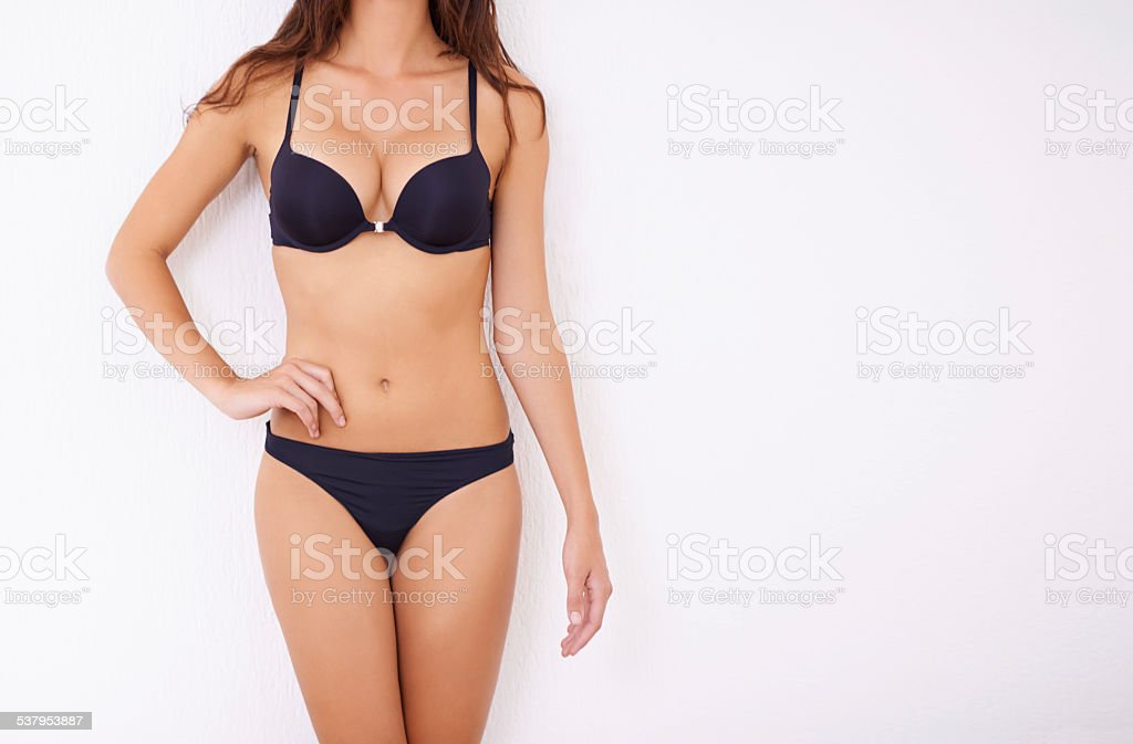 She's got a body to be proud of stock photo