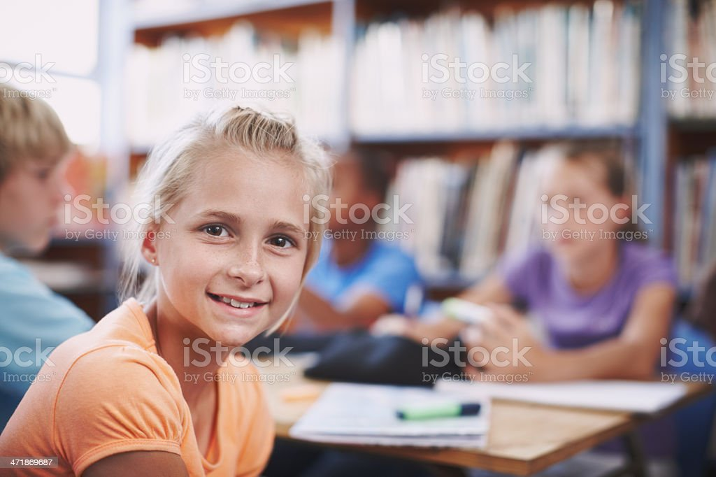 She's got a bright future ahead of her! royalty-free stock photo