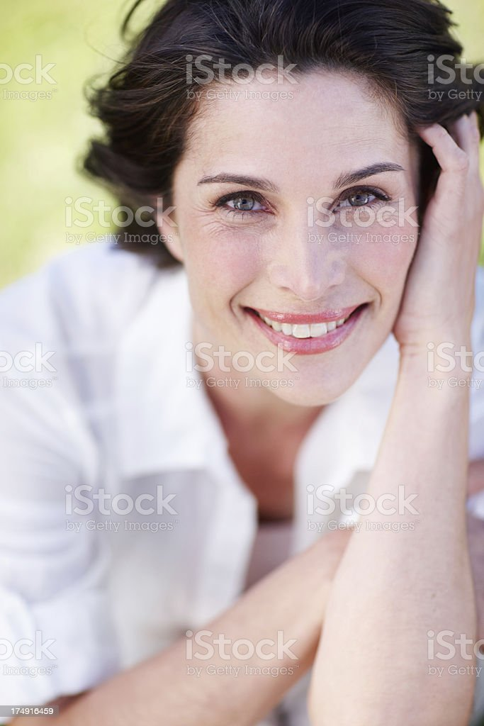 She's got a classic beauty royalty-free stock photo