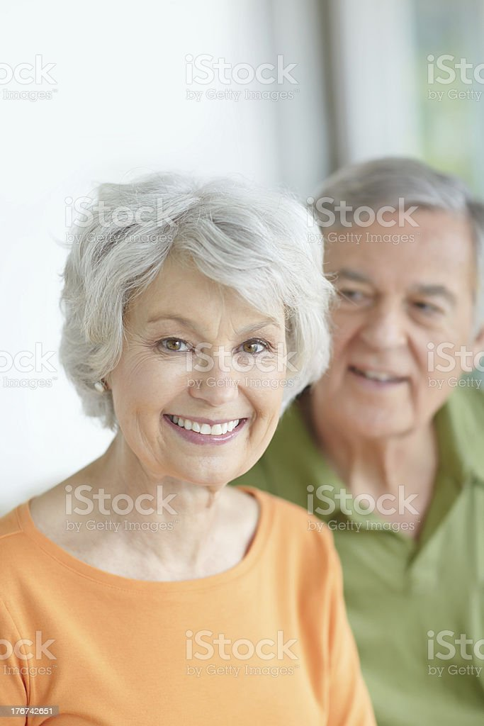 She's got a lovely smile royalty-free stock photo