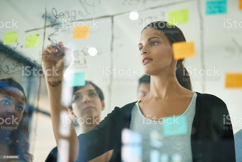 She's got a plan for success stock photo