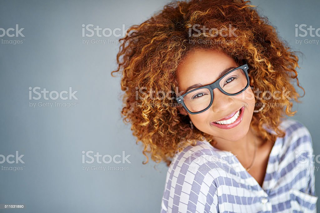 She's got a quirky side stock photo