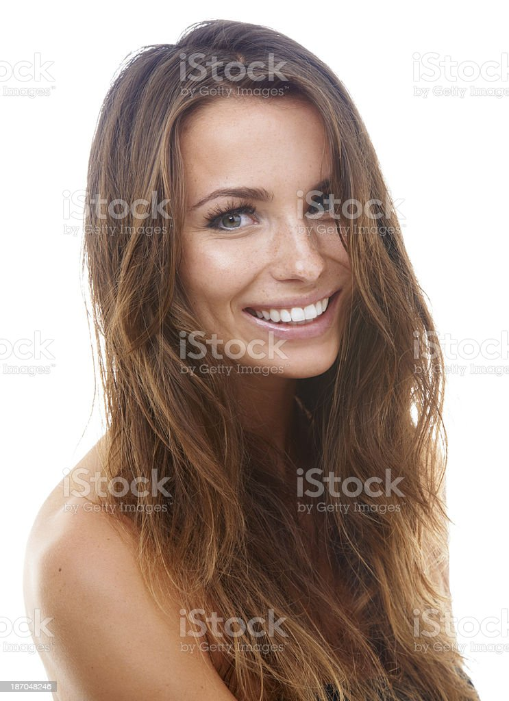 She's got a winning smile royalty-free stock photo