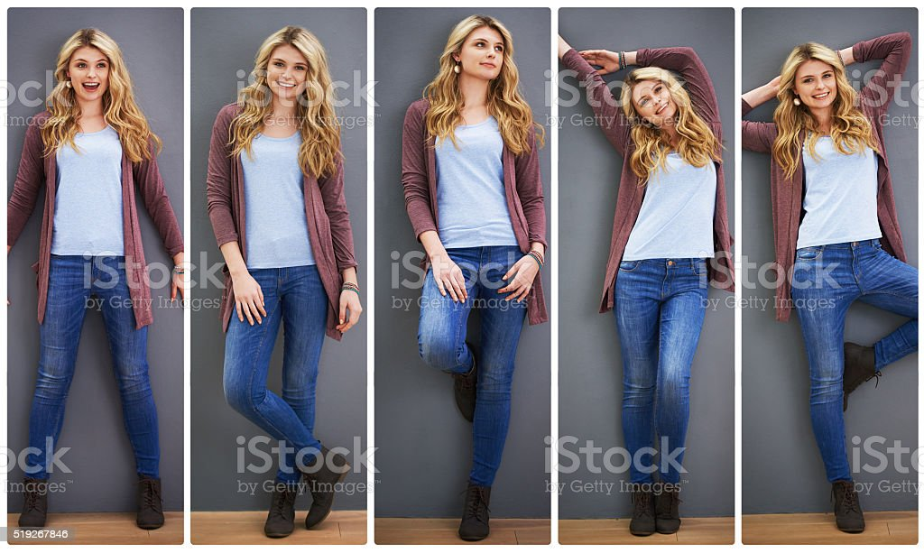 She's got all sorts of style stock photo