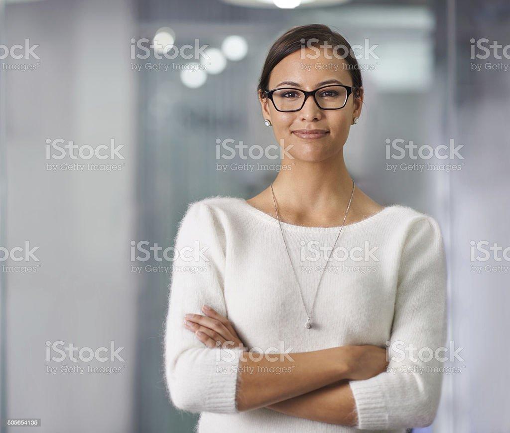 She's got an attitude for success stock photo
