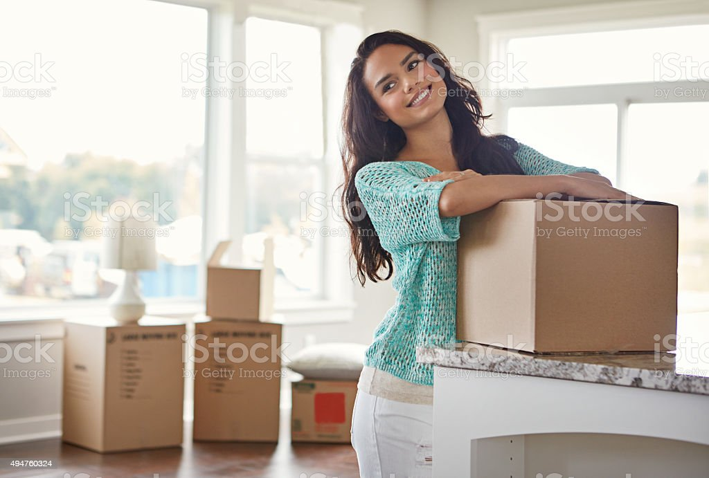 She's got big dreams for her new home stock photo