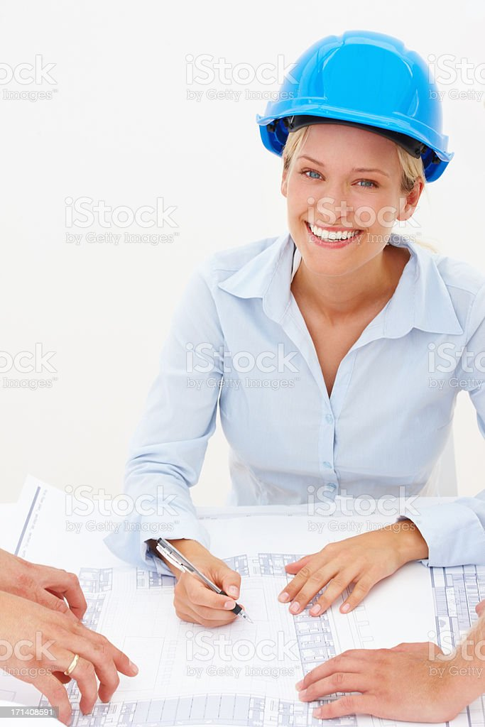 She's got big plans for the future royalty-free stock photo