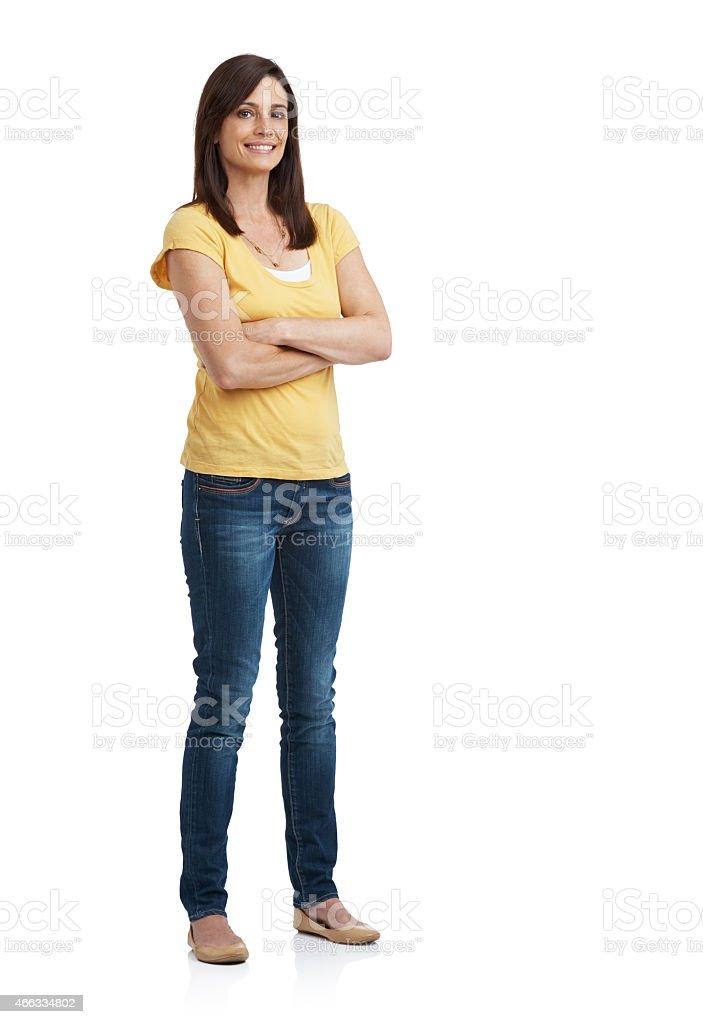 She's got confidence stock photo