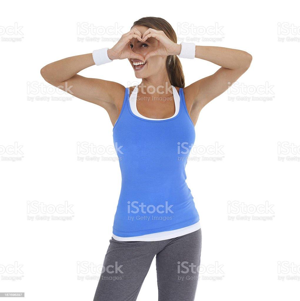 She's got her eye on heart-smart living royalty-free stock photo