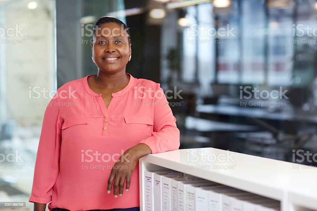 She's got it all, experience and ambition stock photo