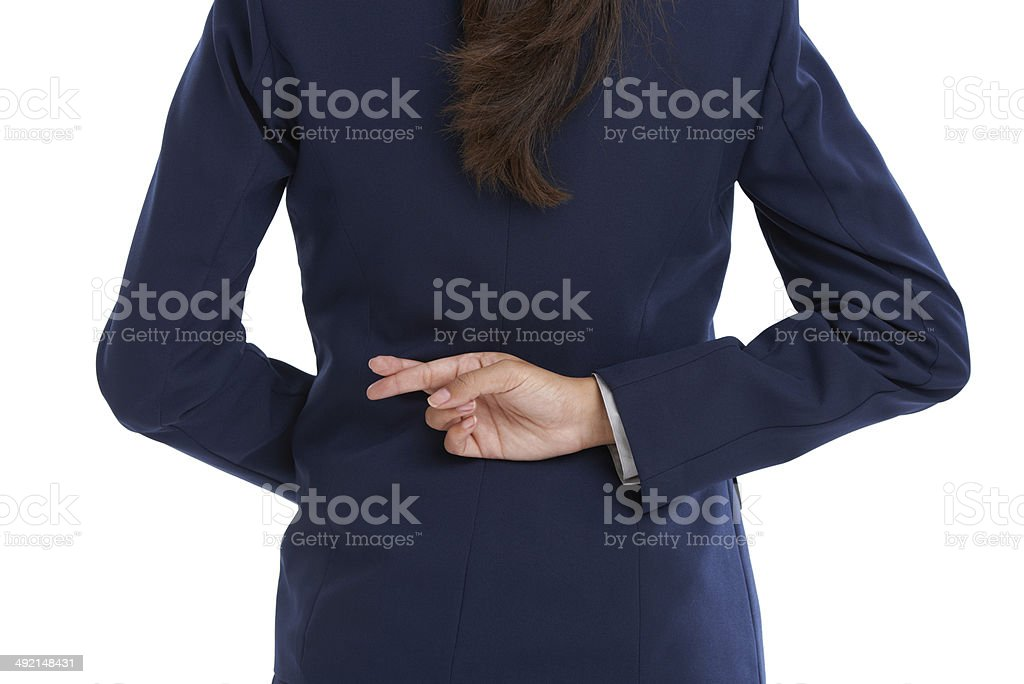 She's got questionable ethics stock photo