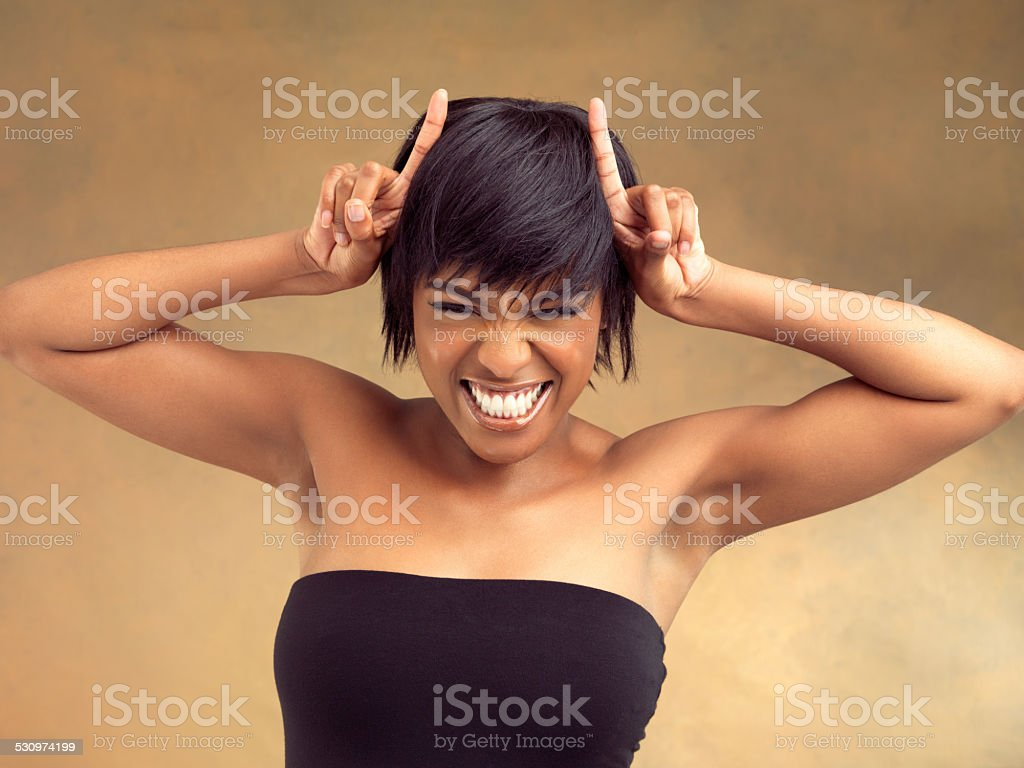 She's got some attitude! stock photo