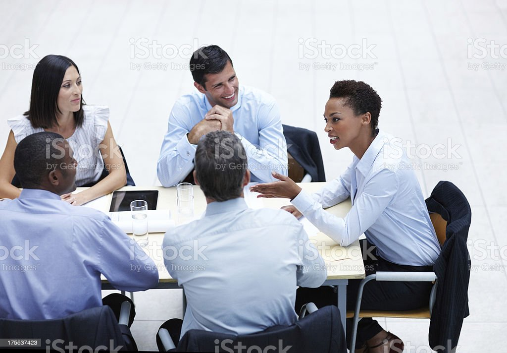 She's got some valuable business advice royalty-free stock photo