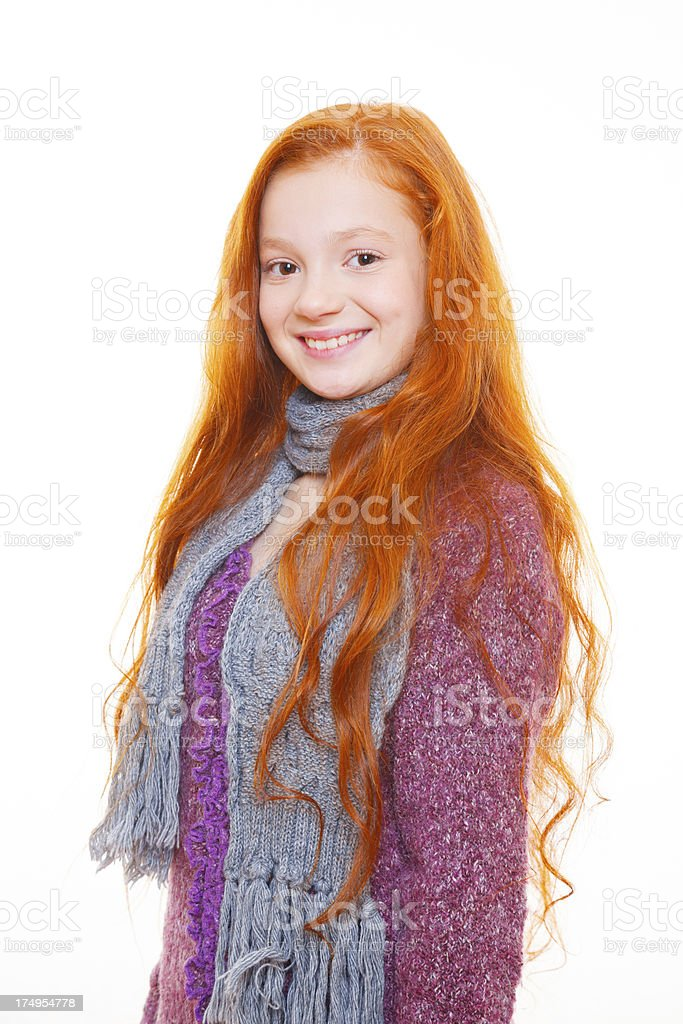 She's got sweet smile, like all other red-head! royalty-free stock photo