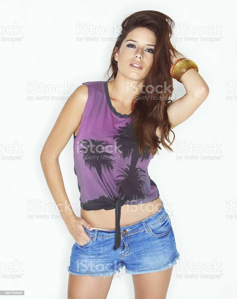 She's got that sexy style! royalty-free stock photo