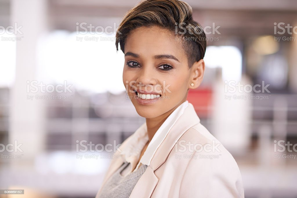 She's got the confidence to make her career a success stock photo