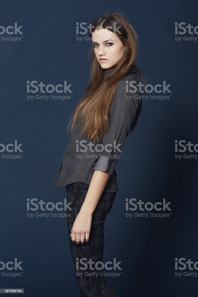 She's got the look royalty-free stock photo