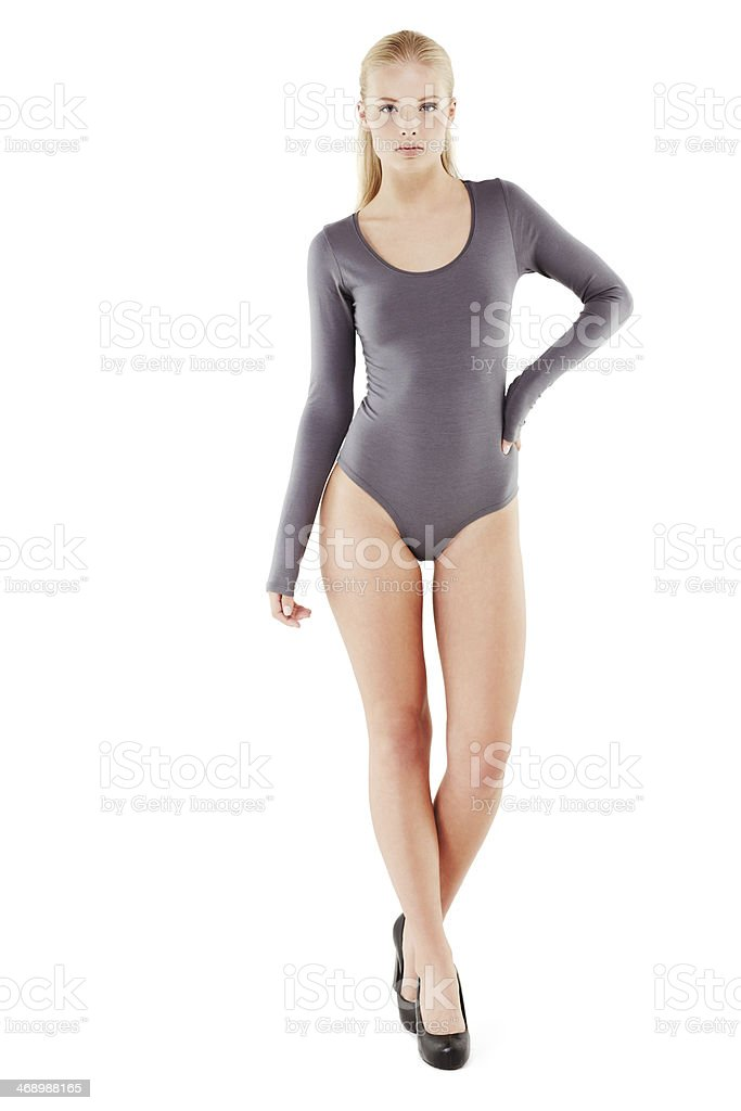 She's got the look! stock photo