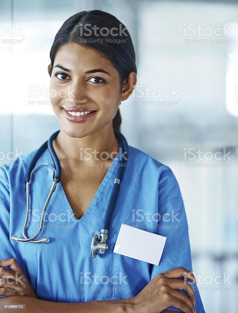 She's got your best health at heart stock photo