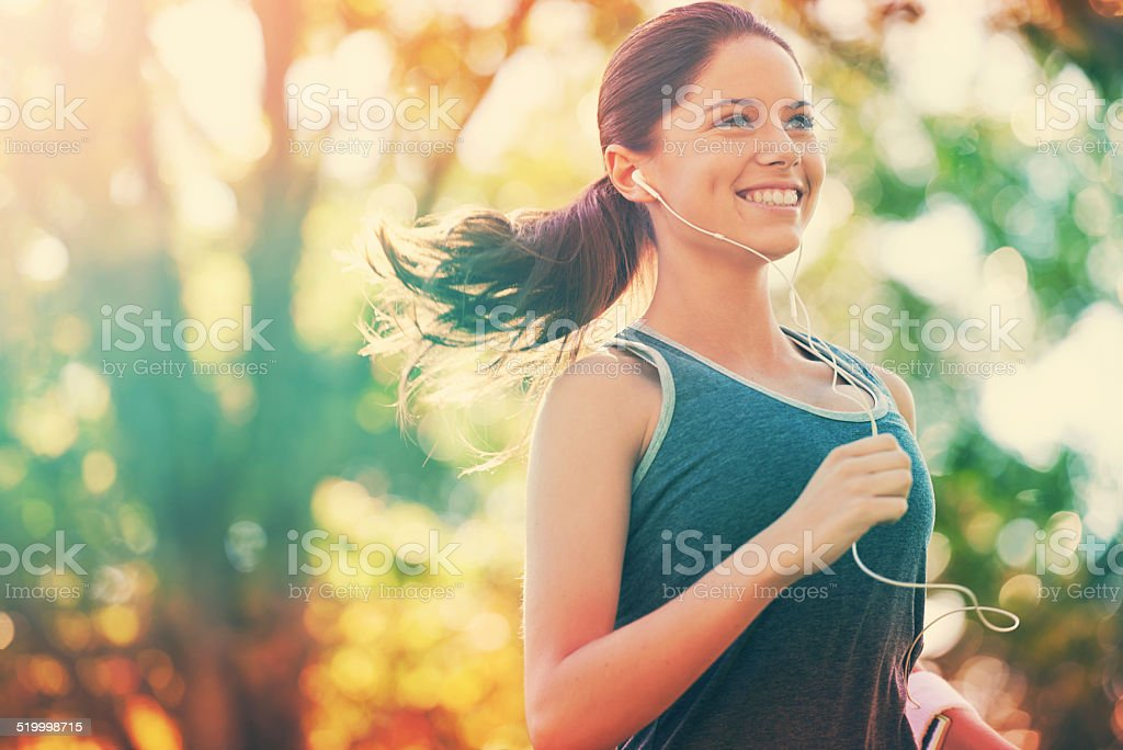 She's habitually healthy stock photo