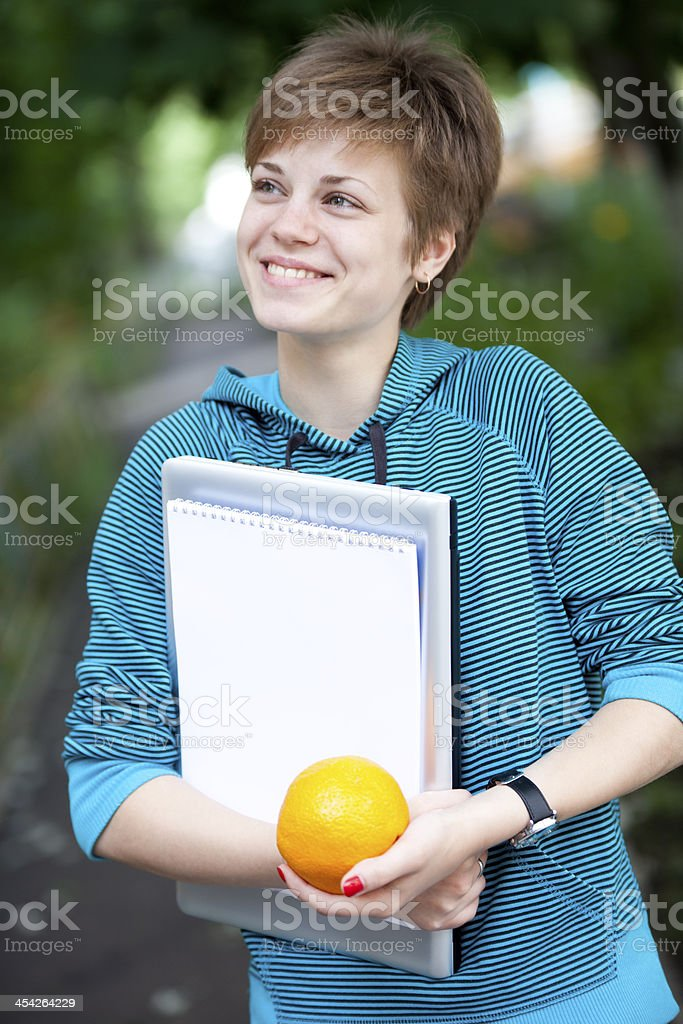 She's Happy To Start Learning royalty-free stock photo